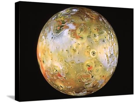 Jupiter's Moon Io Seen by Galileo--Stretched Canvas Print