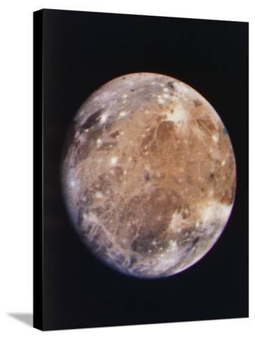 Voyager I Photo of Ganymede, Jupiter's Third Moon--Stretched Canvas Print
