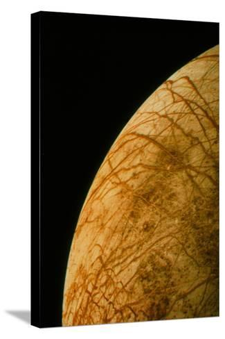 Voyager 2 Photo of Europa, One of Jupiter's Moons--Stretched Canvas Print