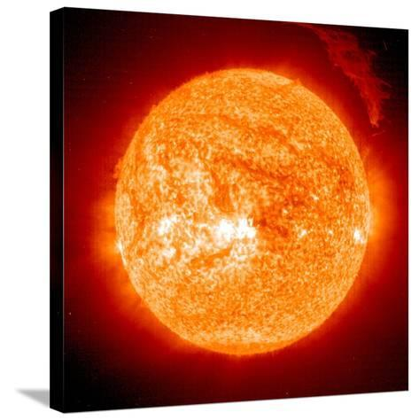 Solar Prominence, SOHO Image--Stretched Canvas Print