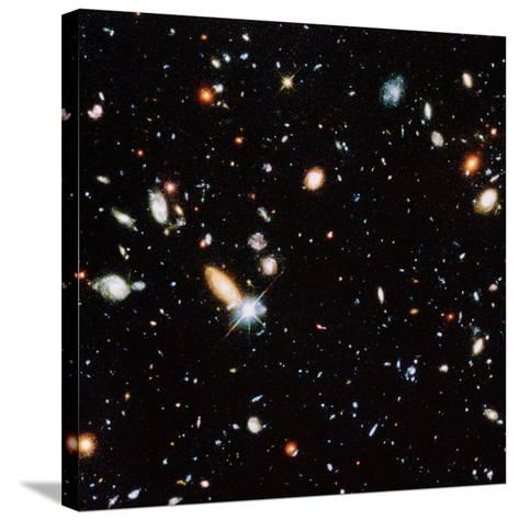 Very Distant Galaxies--Stretched Canvas Print