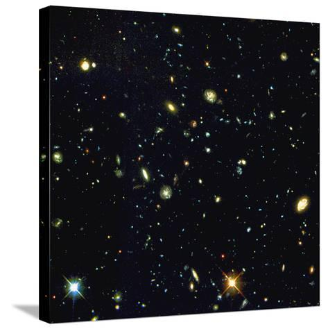 HST Deep-view of Several Very Distant Galaxies--Stretched Canvas Print