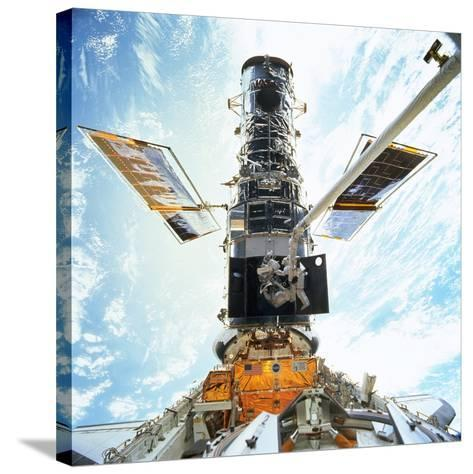 Hubble Servicing--Stretched Canvas Print
