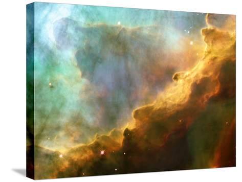 Nebula In M17--Stretched Canvas Print