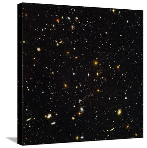 Hubble Ultra Deep Field Galaxies--Stretched Canvas Print