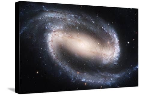 Barred Spiral Galaxy NGC 1300, HST Image--Stretched Canvas Print