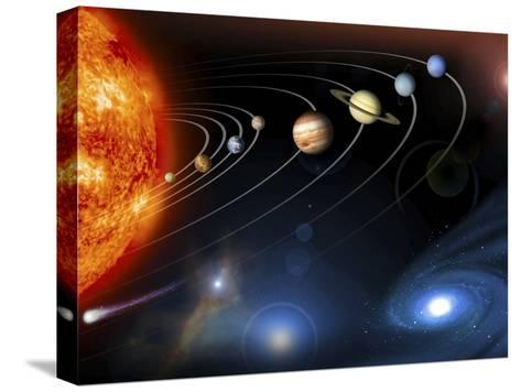 Solar System Planets--Stretched Canvas Print