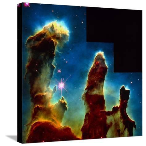 Gas Pillars In Eagle Nebula--Stretched Canvas Print