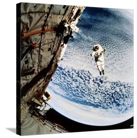 Evaluation of SAFER EVA Backpack, STS-64--Stretched Canvas Print