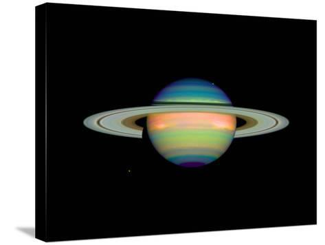 Cloud Cover on Saturn--Stretched Canvas Print
