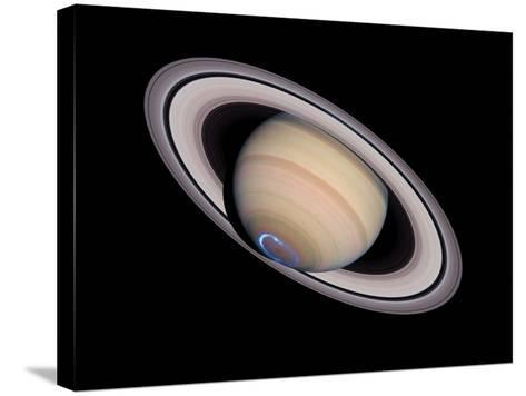 Aurora on Saturn--Stretched Canvas Print
