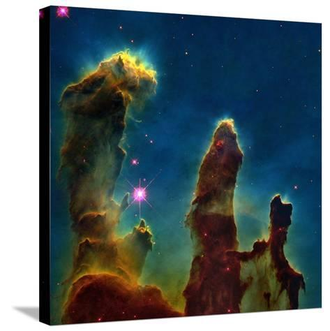 Gas Pillars In the Eagle Nebula--Stretched Canvas Print
