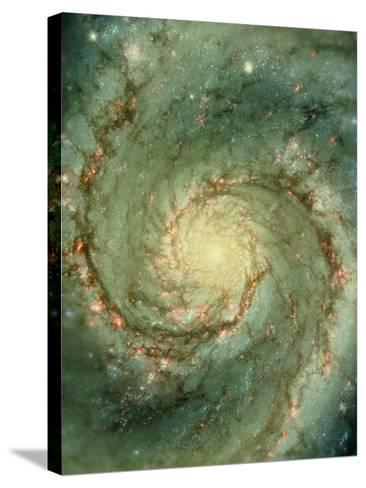 M51 Whirlpool Galaxy--Stretched Canvas Print