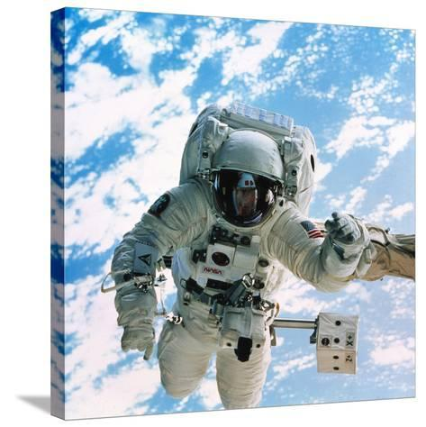 Spacewalk During Shuttle Mission STS-69--Stretched Canvas Print