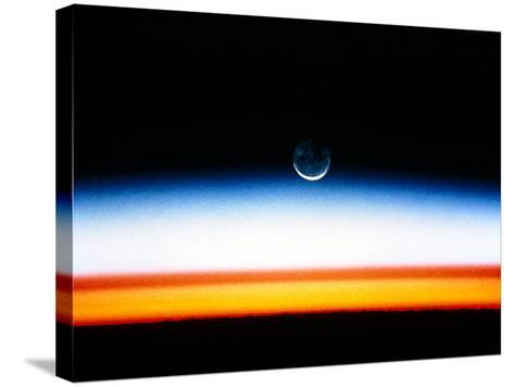 Moonrise Before Sunrise From Orbit, STS-52--Stretched Canvas Print