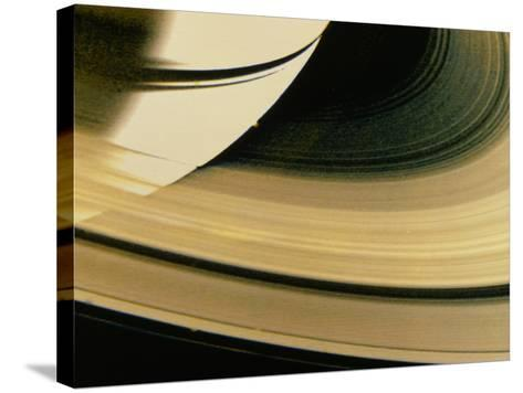 Voyager 1 Photo of Saturn & Its Rings--Stretched Canvas Print