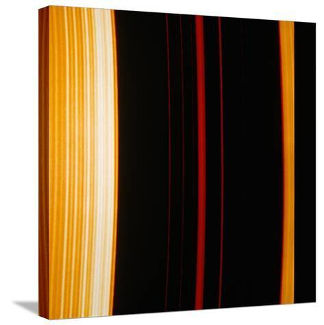 Part of Saturn's Ring System--Stretched Canvas Print