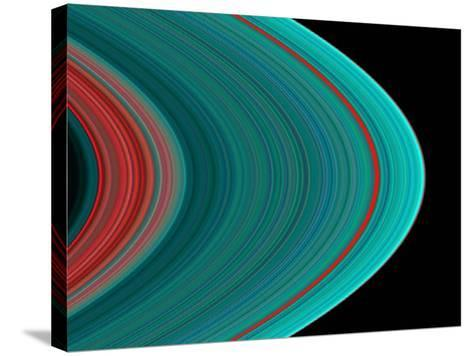 Saturn's Rings--Stretched Canvas Print