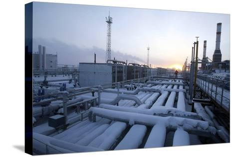 Natural Gas Condensate Production Well-Ria Novosti-Stretched Canvas Print