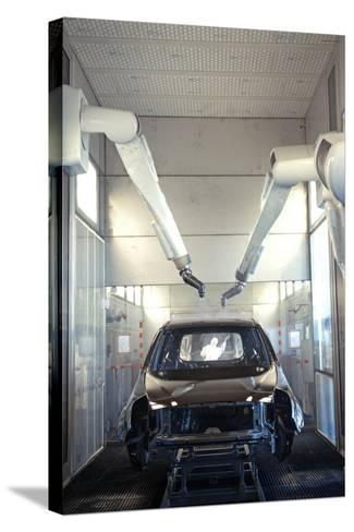 Robotic Car Production Line-Ria Novosti-Stretched Canvas Print