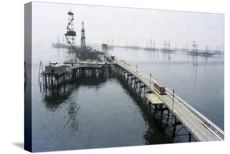 Soviet Caspian Sea Oil Fields, 1978-Ria Novosti-Stretched Canvas Print