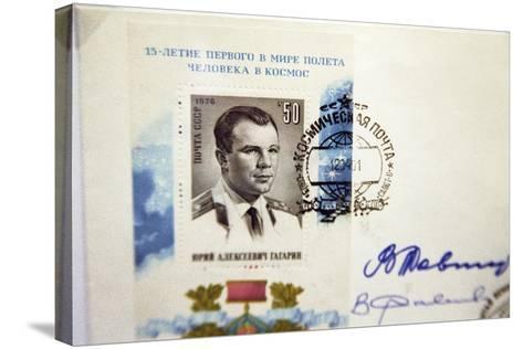 Yuri Gagarin Postage Stamp-Ria Novosti-Stretched Canvas Print