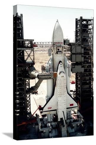 Russian Buran Space Shuttle on Launchpad-Ria Novosti-Stretched Canvas Print