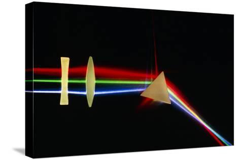 Refraction of Light by Lenses & a Prism-David Parker-Stretched Canvas Print