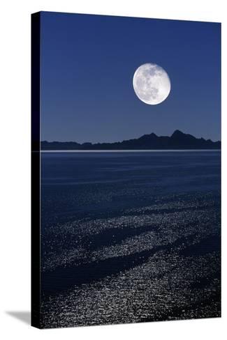Moonrise Over Sea-David Nunuk-Stretched Canvas Print