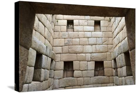 Building Interior, Machu Picchu, Peru-Matthew Oldfield-Stretched Canvas Print