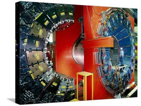 CDF Particle Detector, Fermilab-David Parker-Stretched Canvas Print