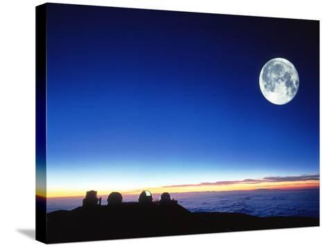 Observatories At Mauna Kea, Hawaii-David Nunuk-Stretched Canvas Print