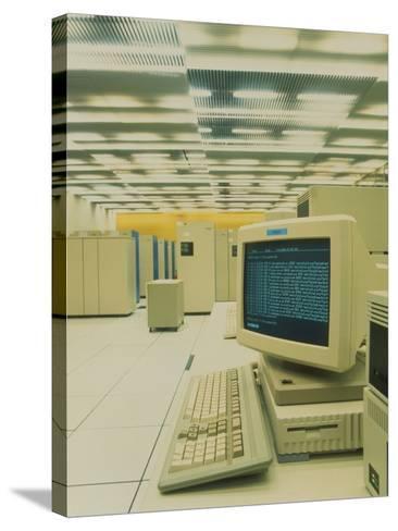 World Wide Web Main Server At CERN, Geneva-David Parker-Stretched Canvas Print