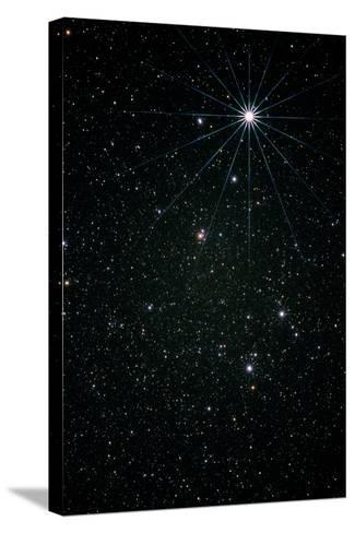 Optical Image of the Constellation of Lyra-Pekka Parviainen-Stretched Canvas Print