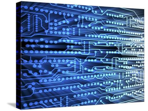 Printed Circuit Board-PASIEKA-Stretched Canvas Print