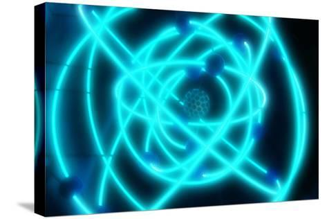 Atomic Structure-PASIEKA-Stretched Canvas Print