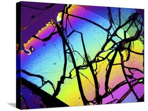 Meteor Jepara, Thin Section, Micrograph-PASIEKA-Stretched Canvas Print