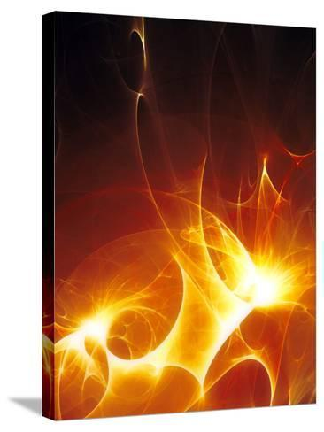 Flames-PASIEKA-Stretched Canvas Print