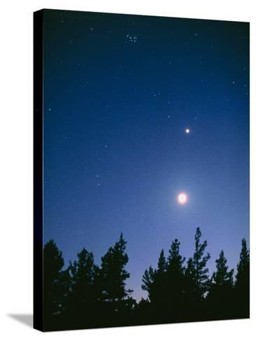 Earth View of the Planet Venus with the Moon-Pekka Parviainen-Stretched Canvas Print