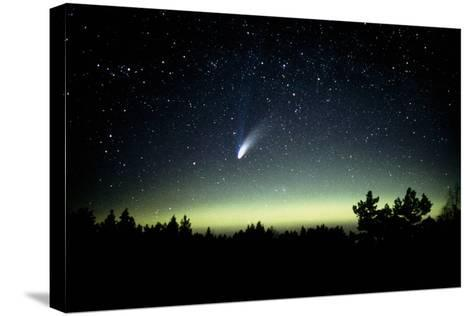 Comet Hale-Bopp And Aurora Borealis, 30 March 1997-Pekka Parviainen-Stretched Canvas Print