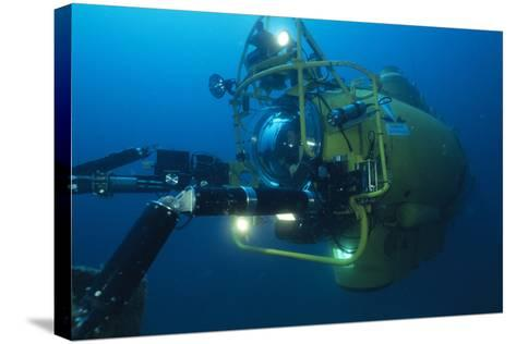 Navy Submersible-Alexis Rosenfeld-Stretched Canvas Print