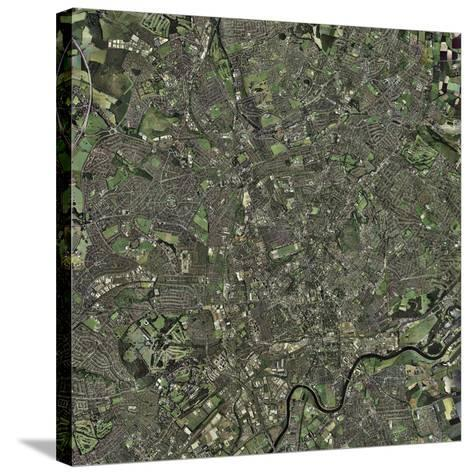 Nottingham, UK, Aerial Image-Getmapping Plc-Stretched Canvas Print