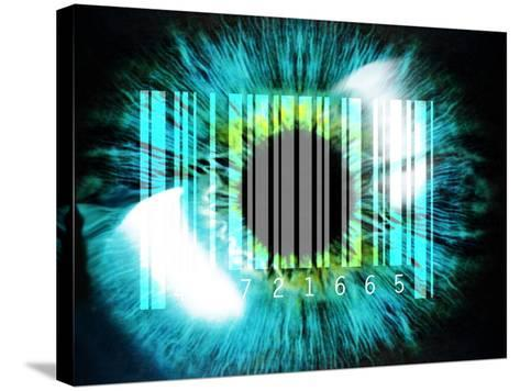 Biometric Eye Scan-PASIEKA-Stretched Canvas Print