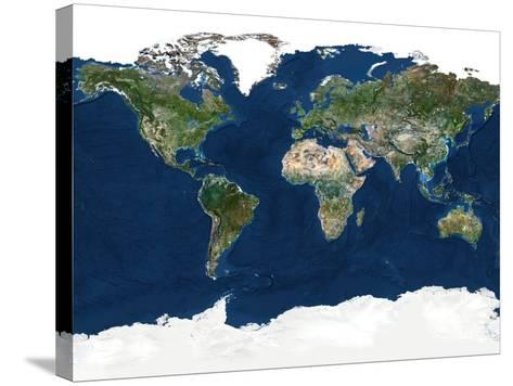 Whole Earth, Satellite Image-PLANETOBSERVER-Stretched Canvas Print