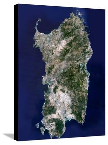 Sardinia, Satellite Image-PLANETOBSERVER-Stretched Canvas Print