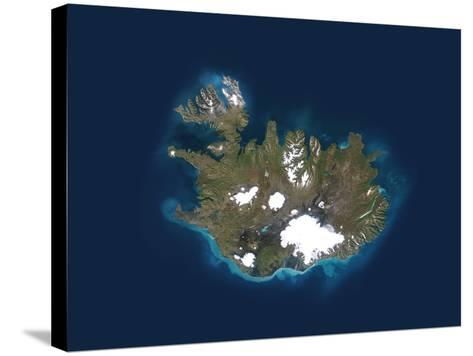 Iceland, Satellite Image-PLANETOBSERVER-Stretched Canvas Print