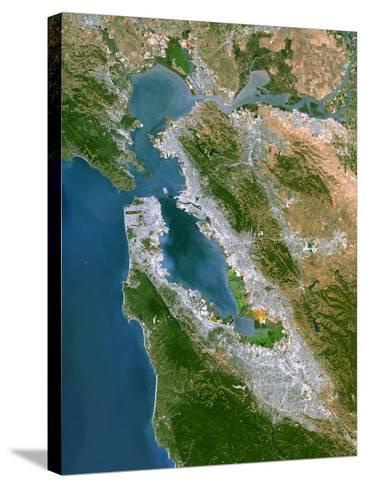 San Francisco-PLANETOBSERVER-Stretched Canvas Print