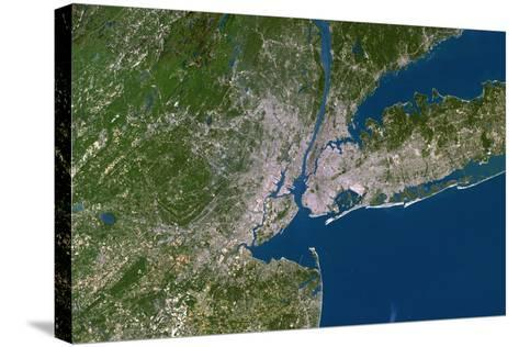New York City-PLANETOBSERVER-Stretched Canvas Print