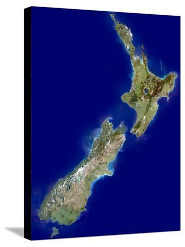 New Zealand, Satellite Image-PLANETOBSERVER-Stretched Canvas Print