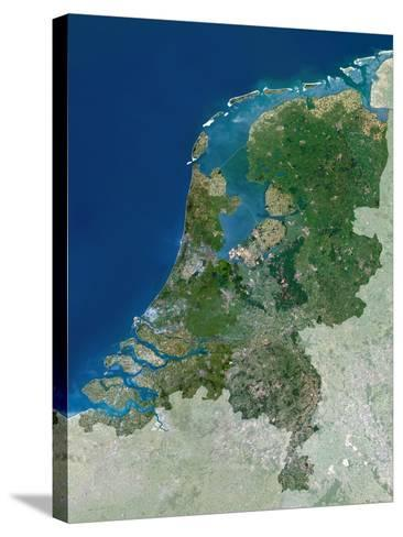 The Netherlands, Satellite Image-PLANETOBSERVER-Stretched Canvas Print